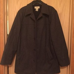 J Crew Gray Wool Single Breasted Peacoat Large